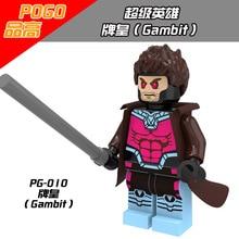 PG010 Avenger Super Heroes Gambit 5pcs/lot Minifigures Building Block Bricks Toys Action Figure Kids Gift Compatible with Legoe