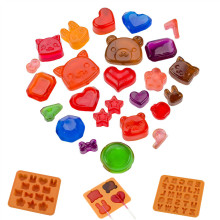 1pc cartoon and heart shaped silicone lollipop mold chocolate