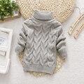 2016 Crianças Bebés Meninos Camisolas Crianças Outono Inverno Primavera Camisola knitting tops pulôver de Gola Alta suéter para as meninas