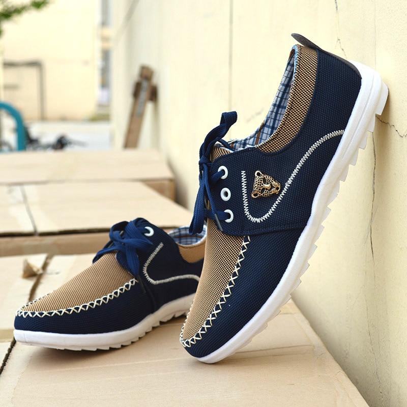 azul Transpirable Hombre Pisos Azul Tendencia Cielo De 2019 Grande Verano Hombres Lona Tamañ Zapatos Baja Prendas Los Casuales Conducción TW0Hq7