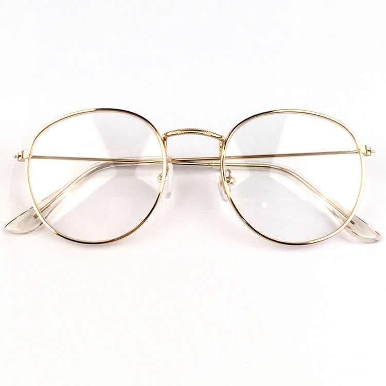 3c3ab729eb ... 2019 New Designer Woman Glasses Optical Frames Metal Round Glasses  Frame Clear lens Eyeware Black Silver ...