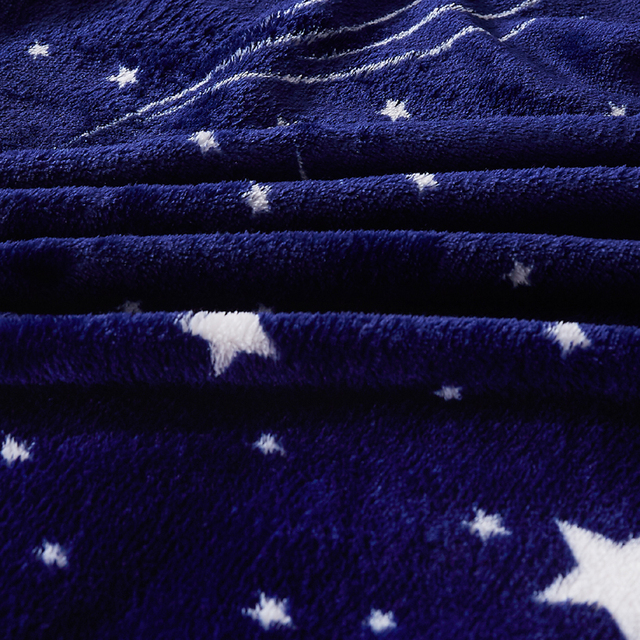 Polyester Blanket with Stars Pattern 3