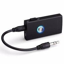 2-en-1 Wireless Bluetooth Altavoz Audio Música Receptor Transmisor Conmutable para Altavoces Del Coche TV