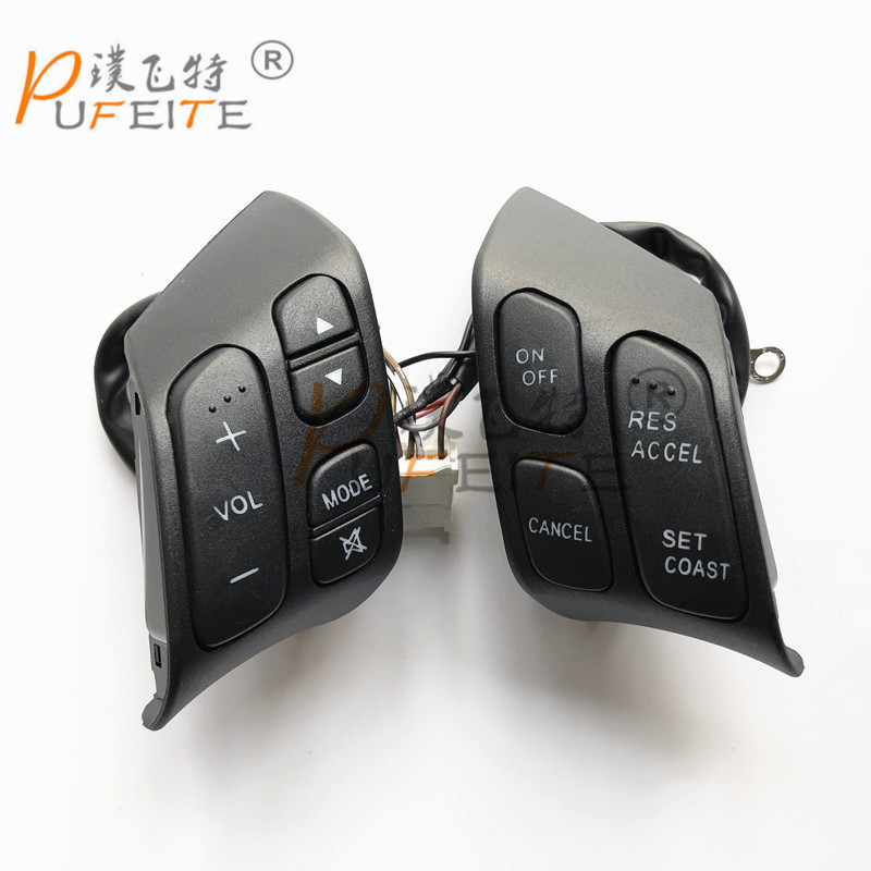 все цены на free shipping Hot steering wheel keysters for Mazda 3 switch audio keysters multifunctional steering wheel keysters