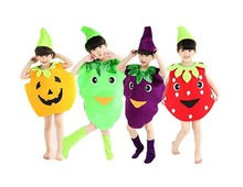 Halloween Costumes Children/Adult Fruits Clothes Pumpkin Grapes Strawberry Clothes Novelty Funny Clothes Trick Toy biochemical importance of pumpkin fruits