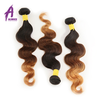 Alimice Ombre Brazilian Hair Body Wave 1b/4/30 3 Tone Non Remy Ombre Human Hair Weave Bundles 1/3 Piece 8 26 Inch Free Shipping