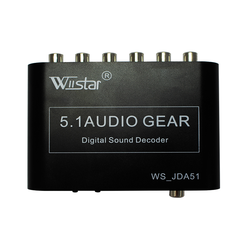 Wiistar 5.1 Audio Decoder SPDIF Coaxial To RCA DTS AC3 Digital To 5.1 Amplifier Analog Converter For DVD Player
