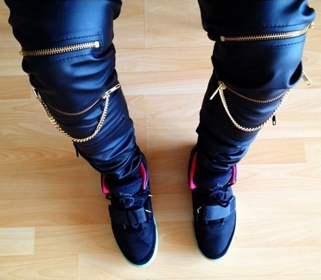 High Quantity PU Faux Leather Men Skinny Justin Bieber Clothes Slim Fit Hip Hop Hiphop Pants Zipper Swag Biker Jogger Kanye West 4