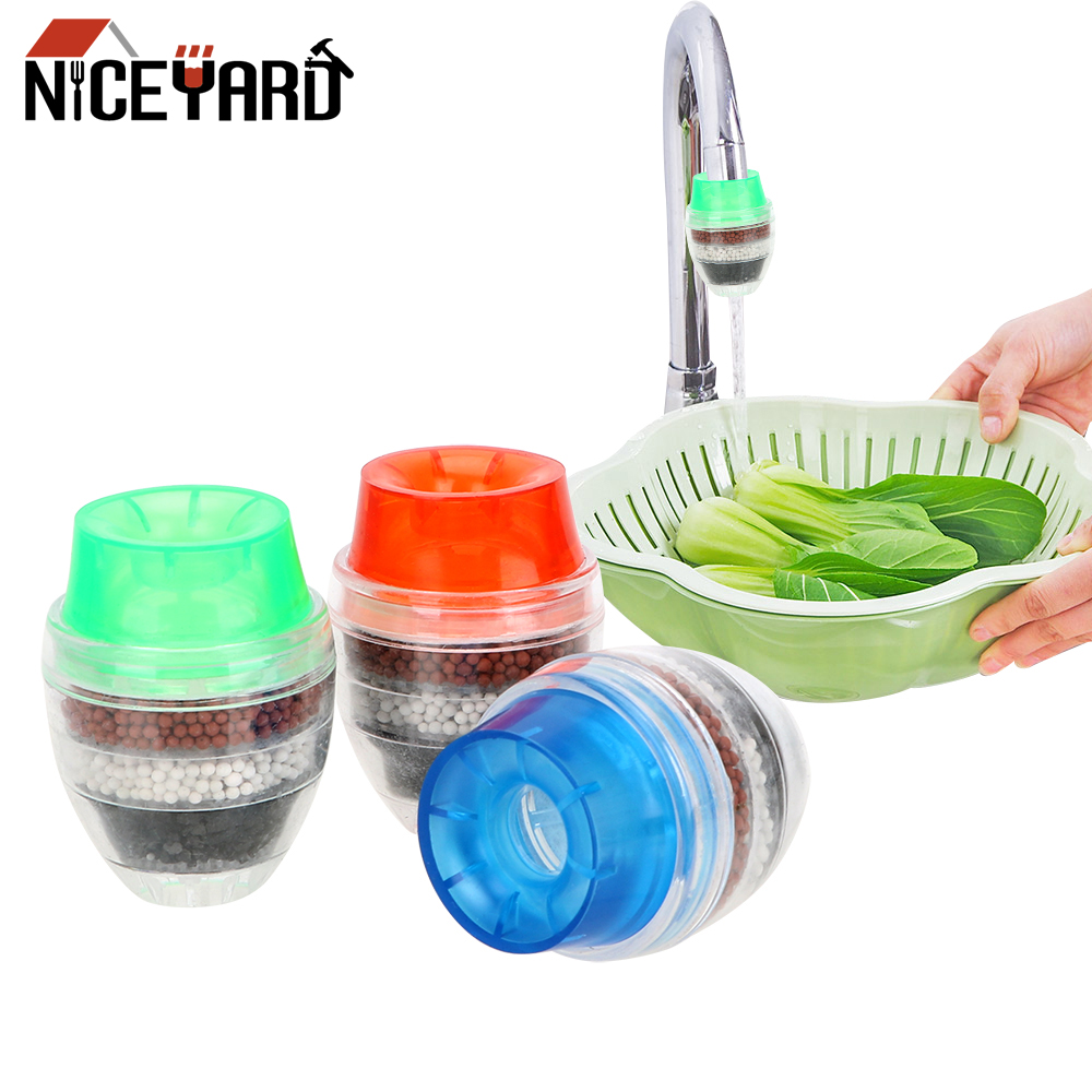 NICEYARD 5-layer Filter Faucet Tap Water Purifier Activated Carbon Tap Water Clean Gadgets Filter Home Improvement