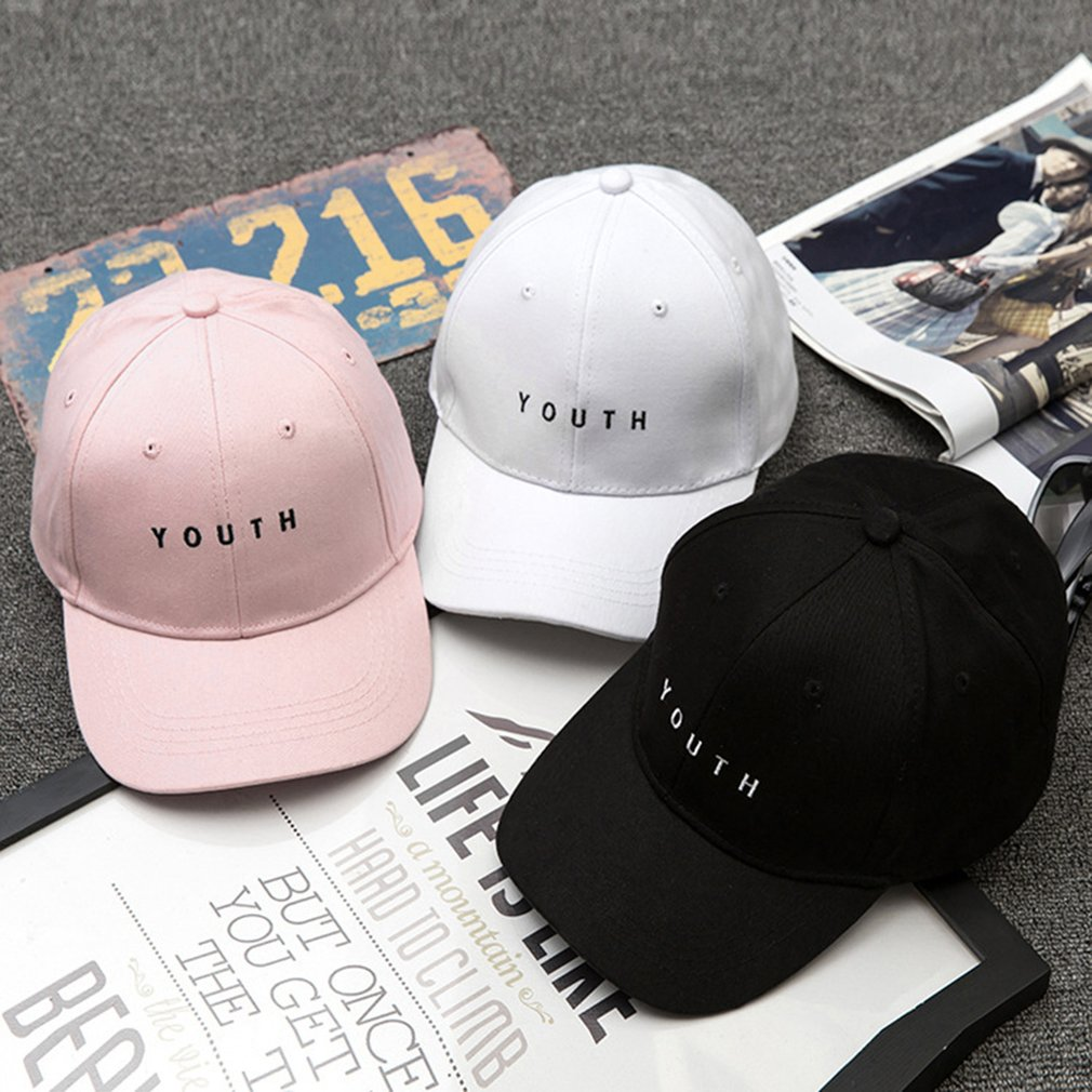 Running Cap Korean Men Women Summer Baseball Cap Letter Embroidery Solid Color Hip-hop Cap Hat Best Birthday Gift fashion summer pink white women baseball cap with letter hat cap snapback sport female peaked cap hip hop