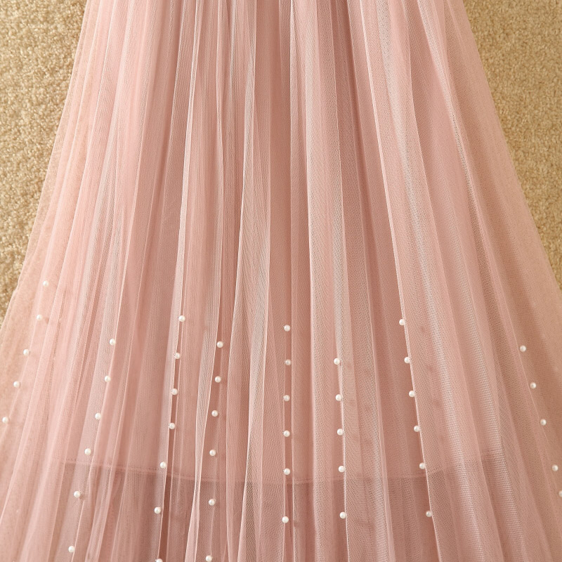 HTB1HtJnPmzqK1RjSZPcq6zTepXaj - New Spring Summer Skirts Womens Beading Mesh Tulle Skirt Women Elastic High Waist A Line Mid Calf Midi Long Pleated Skirt