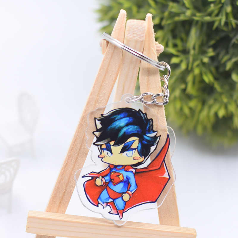 O Flash Keychain Bonito Dupla Face Batman Superman DC Universe Pingente Chaveiro Acessórios Anel Chave Dos Desenhos Animados do Anime DBS1P