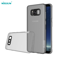 For samsung galaxy s8 / s8 plus case cover Nillkin nature Transparent Clear Soft TPU back case cover for galaxy note 8 case capa