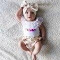 EL CCSME DHL envío gratis niños bebés niñas Bebés Traje Traje de Encaje Floral 3 unid Camiseta Headbant Bloomers desgaste Del Bebé