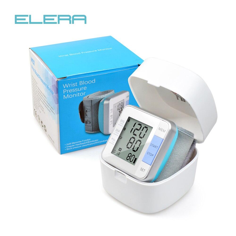 ELERA Da Polso Monitor di Pressione Sanguigna Sfigmomanometro Digitale LCD Misuratore di Pressione Sanguigna Automatico Tonometro per la misurazione della Pressione