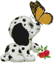 Fishxx cross-stitch A829 cartoon Funny butterfly water-soluble 100% accurate 11CT embroidery