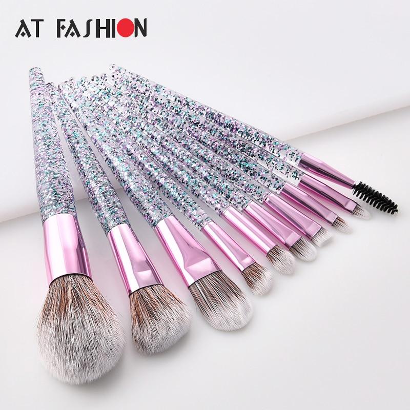 d517c7451ddb AT FASHION Prefessional 12pcs Makeup Brush Set High Quality Cosmetic ...