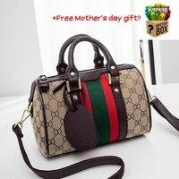 Ladies Handbag Women Tote Shoulder Bags High Quality Genuine Leather Boston Bag Women Crossbody Bags Child