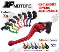 CNC Short Adjustable Racing Brake Clutch Levers For Suzuki GSX R600 2006 2010