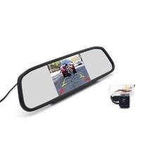 Автомобильное Зеркало 4,3 дюйма с камерой заднего вида для Toyota Corolla Vios Peugeot 206 207 307 407 LEVIN Yaris L Verso Camry Highlander