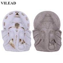 VILEAD Nature Sandstone Indian Elephant God Figurine Religious Elephant-Headed Sculpture Fengshui Hindu Buddha Statue