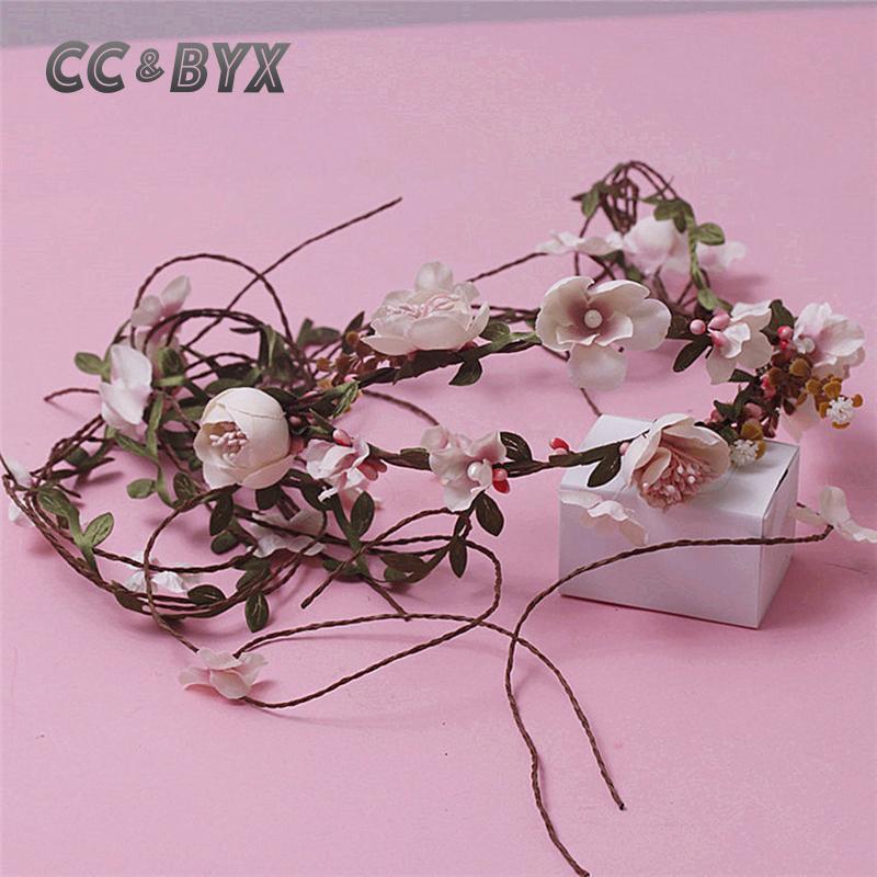 cc u byx adornos para el cabello diademas tiaras romnticas flores de color rosa para nia playa del banquete de boda de la coro