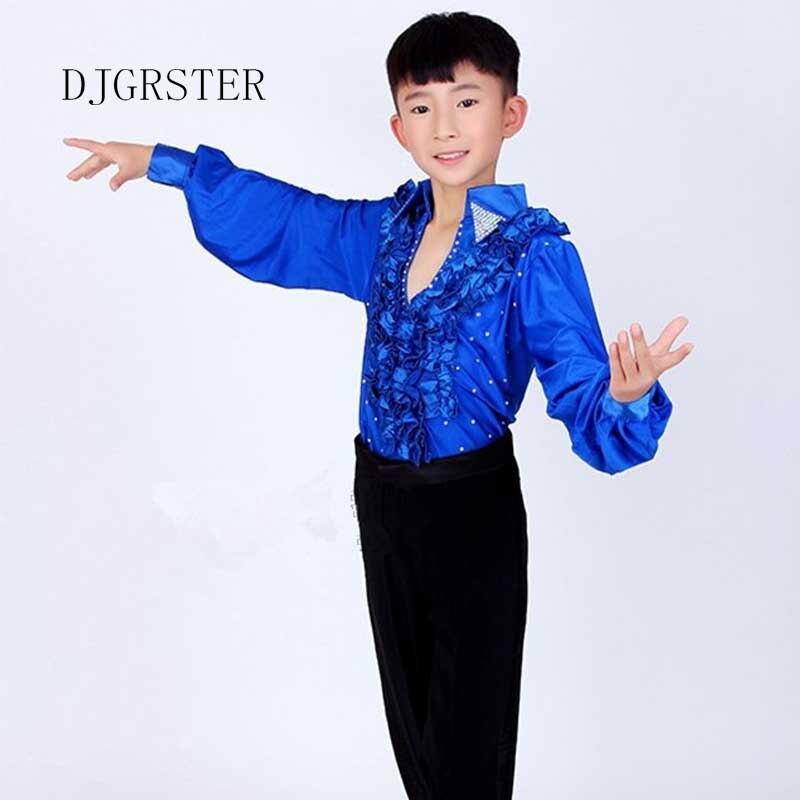 431eafe8 US $30.0 |Taniec kostiumy dla chłopców dla dzieci łacińskiej taniec spodnie  + koszula taniec nosić chłopiec ballroom kostiumy do tańca ...