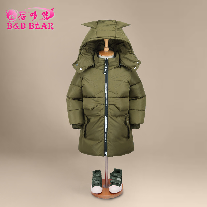 Jacket Girl Casual Children Parka Winter Coat Boy Duck Long Section Down Thick Fur Hooded Kids Winter Jacket for Girls Outerwear fashion children s long jacket fur collar padded jacket duck down baby boy girls winter thick warm new children s clothing 2 7t page 4