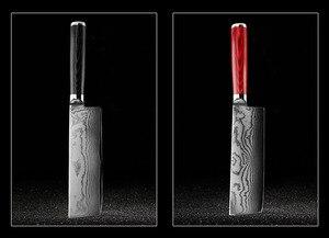 Image 4 - FINDKING جديد 6.5 بوصة ناكيري السكاكين شفرة دمشق الصلب دمشق سكين الطاهي 67 طبقات دمشق سكين المطبخ