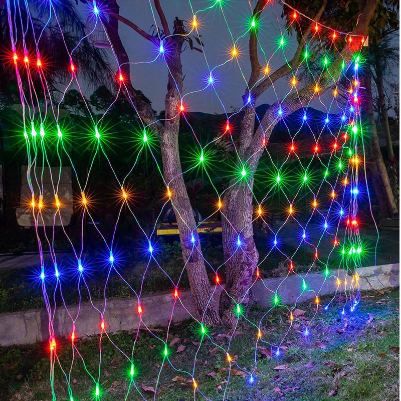 3MX2M 1.5X1.5M LED Net Mesh Fairy String Light Garland Window Curtain Christmas Fairy Light Wedding Party Holiday Light