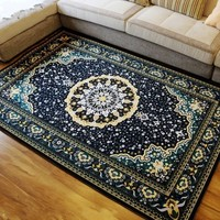 Big Size Persian Carpet 160 230cm Living Room Coffee Table Carpet Rectangle Ground Mat Classical Home