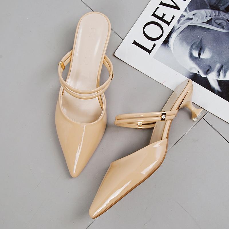 Mujeres en punta del dedo del pie mulas de lujo tacones Slingback - Zapatos de mujer - foto 3