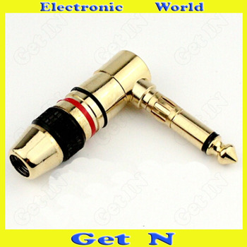 20pcs Fine 6.35 Mono Track Connector Plug for Microphone Stereo System Also 6.5 2-Pole Version 6.35/6.5 Connector Plug