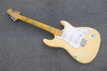 Aged Scalloped Fingerboard ST electric guitar with yngwie malmstein signature