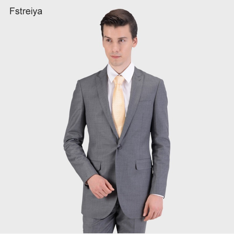 Custom made mens wool suits customize slim fit wedding suits for men 2019 pantalon homme de luxe groom suit regular fit jacket
