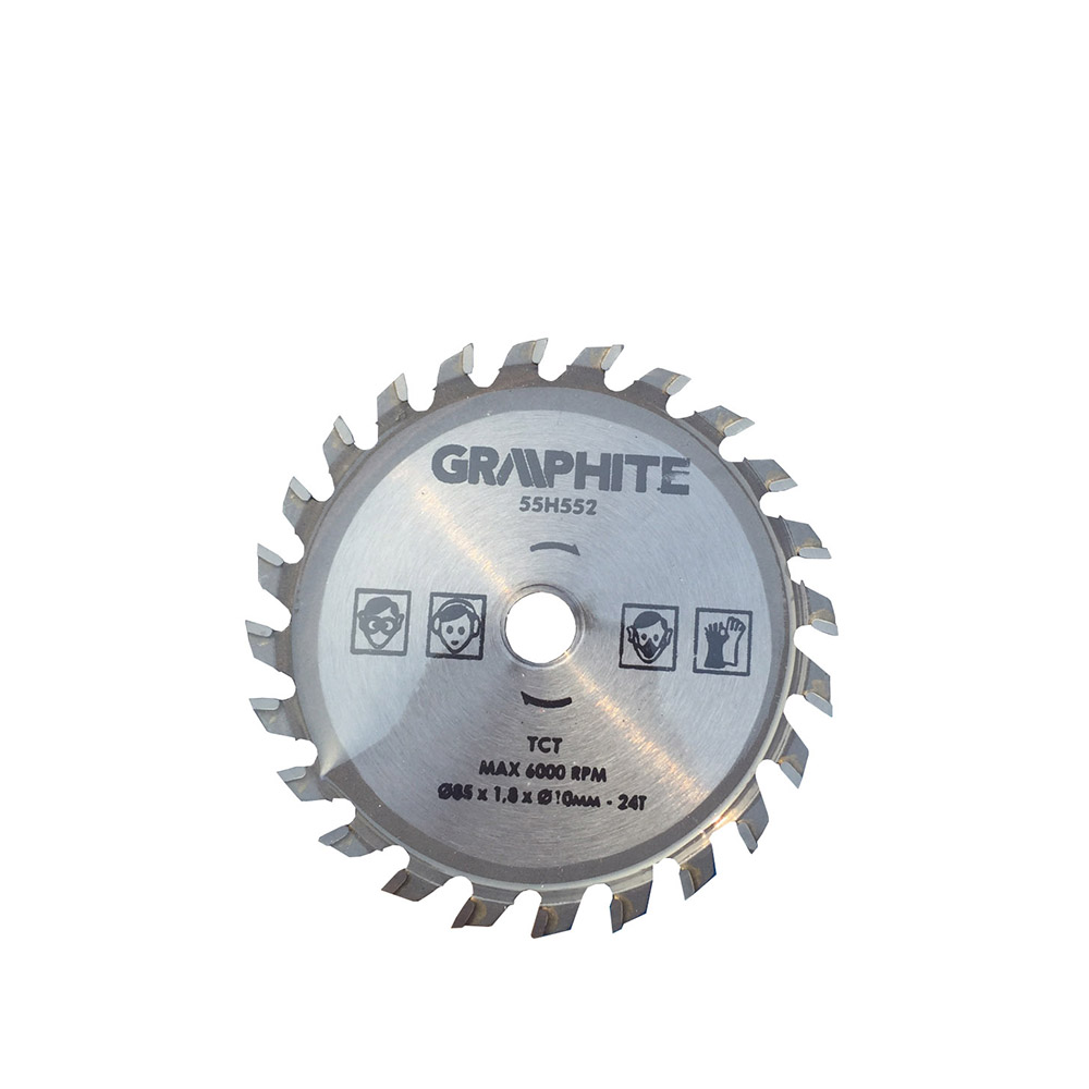 Circular Saw Blade 85*10*24T Multipurpose Wood Aluminum Cutting Saw Blades Out Diameter 85mm Inside Diameter 10mm 24 Teeth