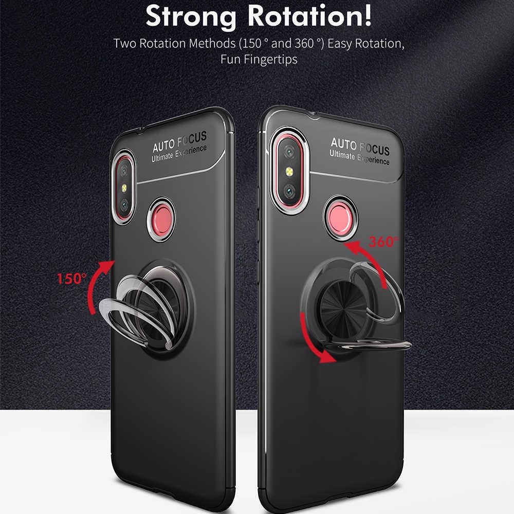 Suave TPU Silicone Para Xiaomi Redmi Nota 5 6 Pro S2 360 Anel Magnético Stand Case Para Nota Redmi 4X4 4A 6A Cobertura Completa Casos Magros