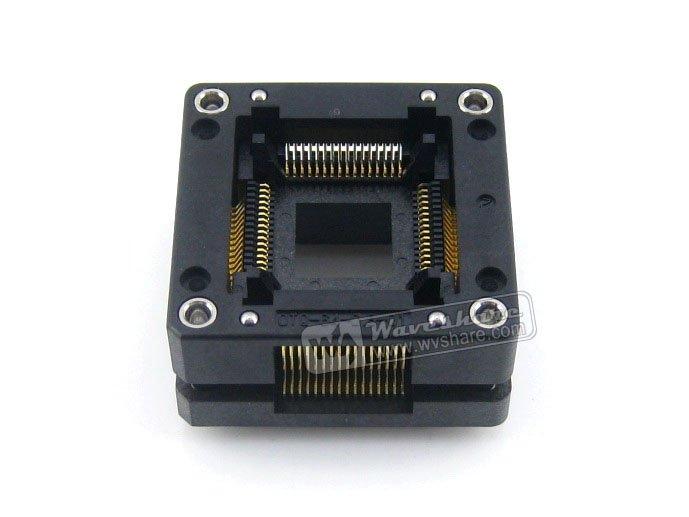 Modules QFP64 TQFP64 LQFP64 OTQ-64-0.8-01 Enplas IC Test Burn-in Socket Adapter 0.8Pitch Free Shipping imports of ic test seat otq 100 0 65 03 burning qfp100 adapter conversion