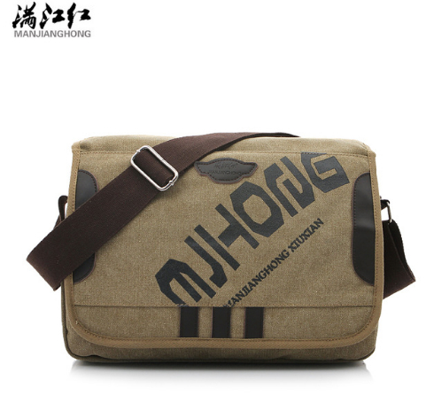 все цены на MANJIANGHONG Vintage Fashion Men's Shoulder Bag Canvas Messenger Bags Men Business Crossbody Bag Printing Travel Handbag