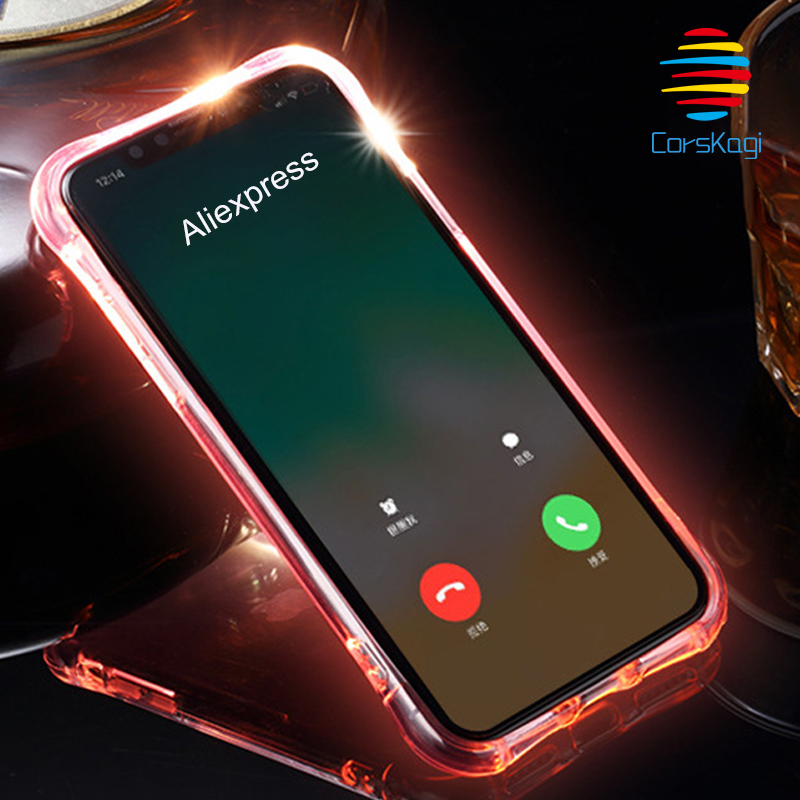 iphone xr led light case