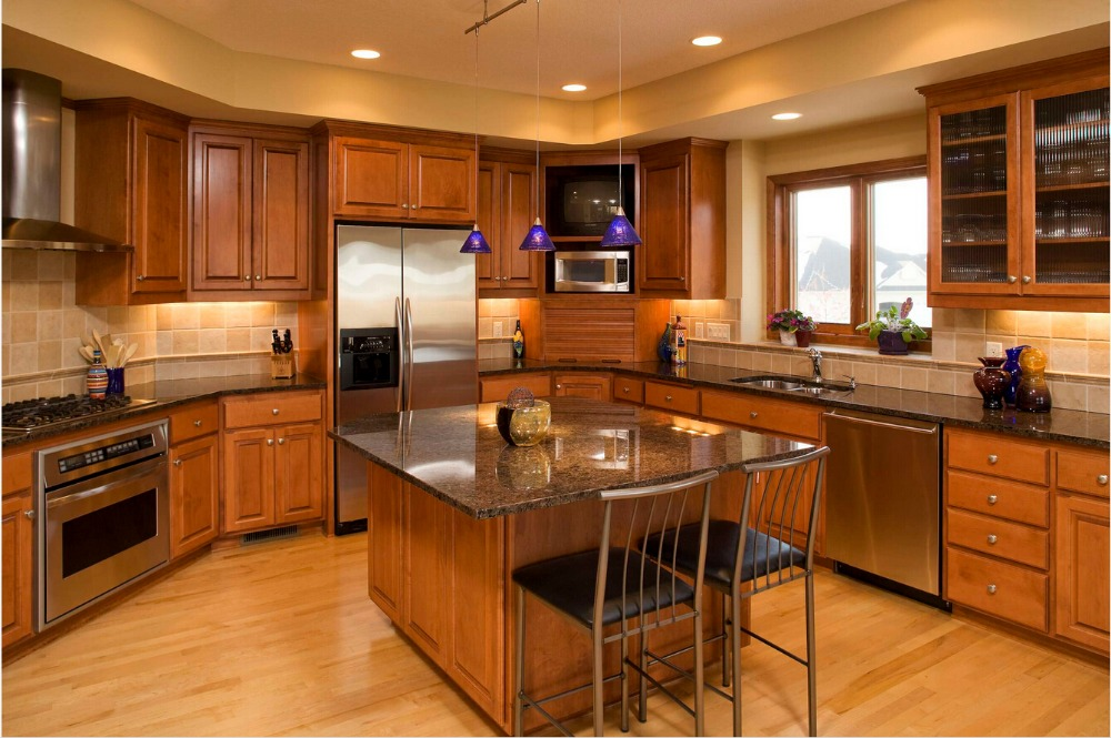 High Quality Wholesale Solid Wood Kitchen Cabinets From