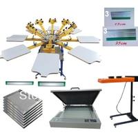 NEW 8 Color 8 Station Silk Screen Printing Kit UV Exposure Flsh Dryer T Shirt Printer