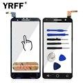 5.0 ''touchscreen para alcatel vodafone smart prime 6 vf895 vf-895n vf895 vf-895 895n frente touch screen painel digitador adesivo