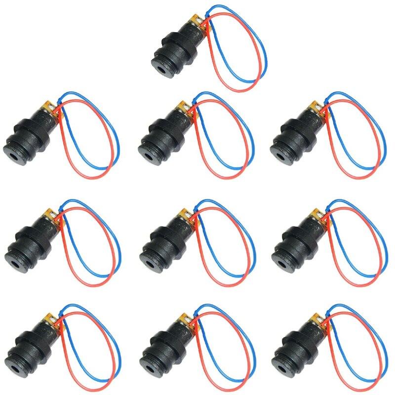 2 шт./лот, черная 4,5 в, 12 мм, красная лазерная головка, модуль, пластиковый лазерный диод, лазерная точка VE003 P50