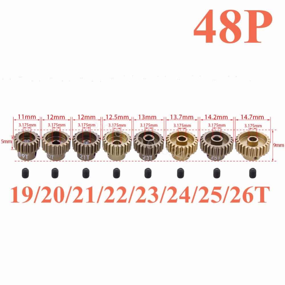 48 P Pinion Gear 19T 20T 21T 22T 23T 24T 25T 26T 28T 48 PITCH 3.175 มม.Associated Losi TLR Traxxas HPI AXIAL SAKURA