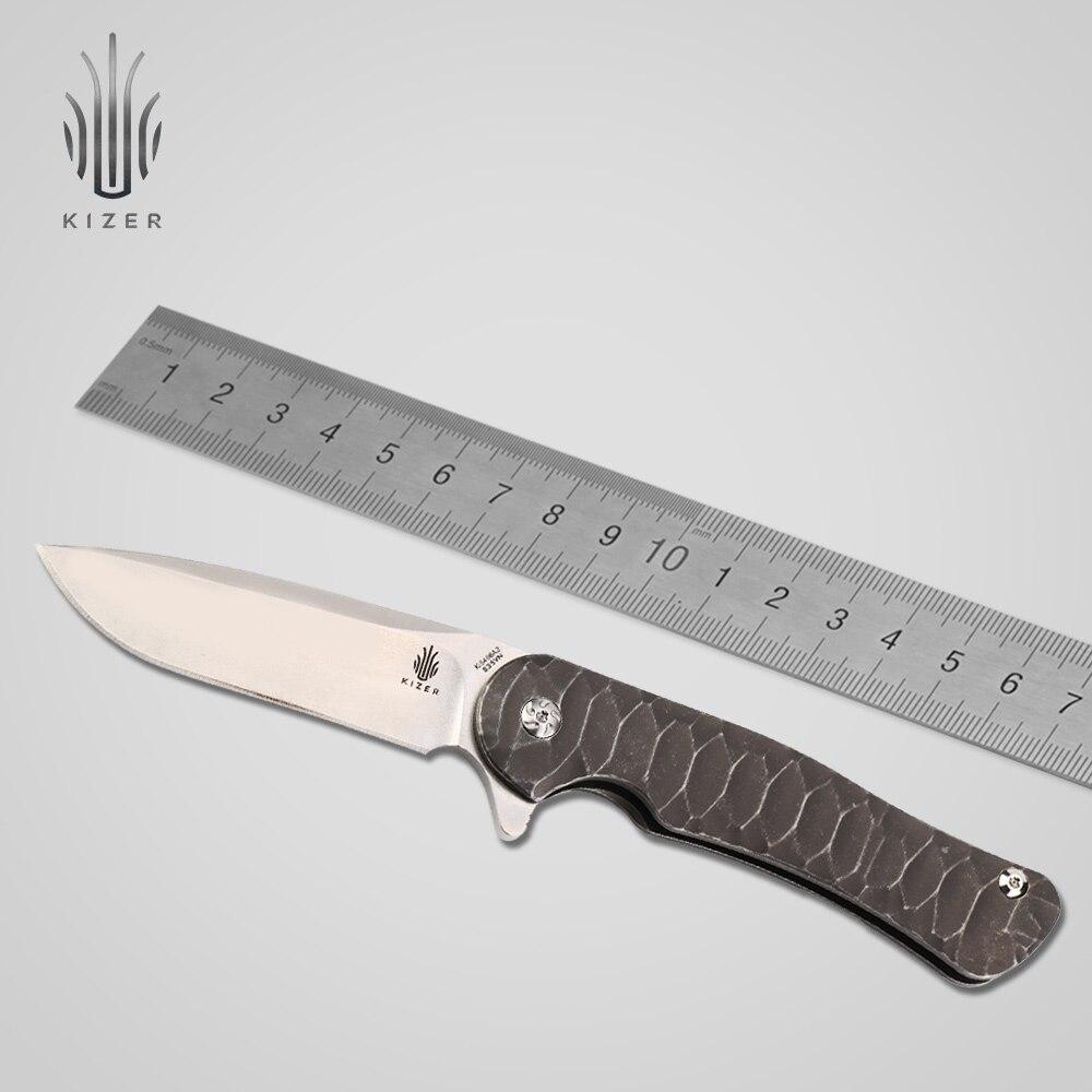 Kizer couteau pliant Ki5466A2 survie tactique couteau titanium poignée haute qualité d'outils à main