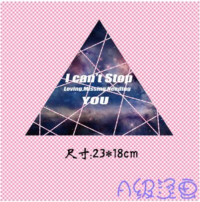Europe and the United States Wind Letter Star Triangle Heat Transfer Offset Clothes Post Offset A-type Over-size Size Heat Trans