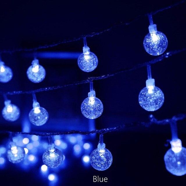 blue led light ball bulb string christmas tree birthday holiday light string interior decoration imitation crystal