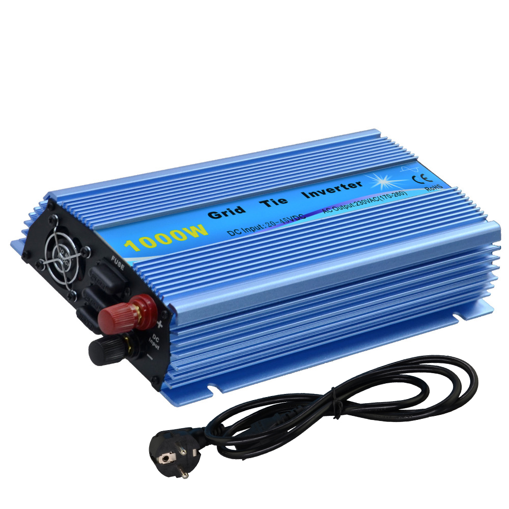 1000W Grid tie micro inverter DC20V~45V to AC230V(190V-260V) pure sine wave inverter for solar panel MPPT