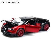 Bugatti Veyron Racing Alloy Car Three Colors Simulation Acousto-optic Vehicles 1:32 Matal Car Model Children Classic Cars Toys(China)